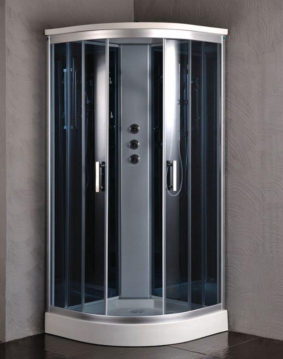 Edel dusjkabinett 120x120 grå