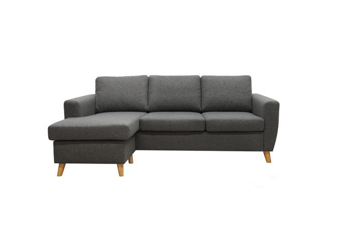 Arendal 3D/D3 sofa med sjeselong - Brun