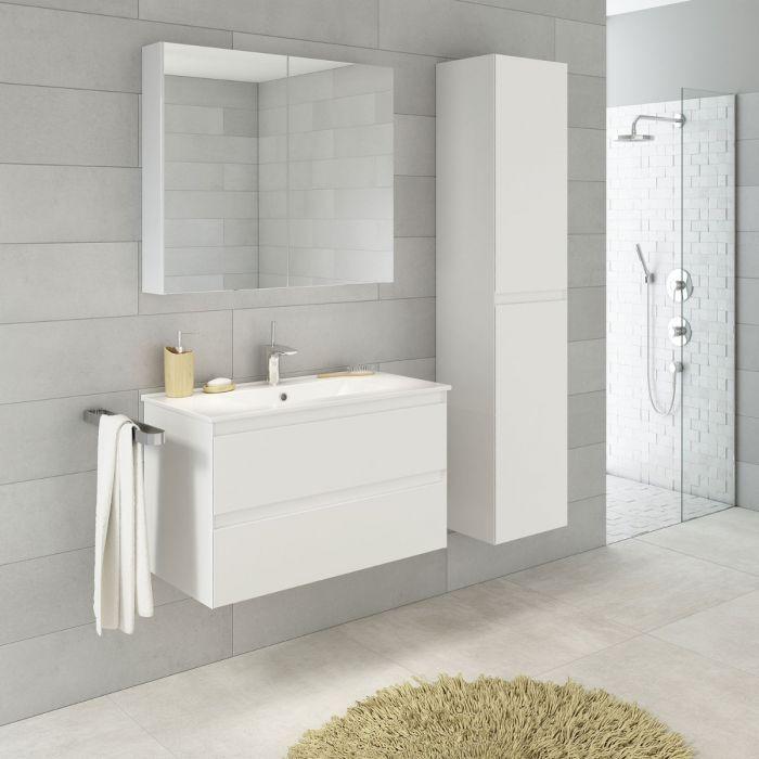 StellaDesign 80 cm baderomsmøbel hvit matt