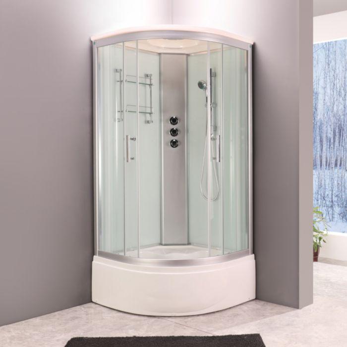 Edel dusjkabinett med badekar hvit