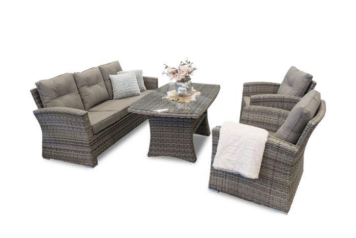 Honolulu - Lounge møbel m/3-seter og 2 stoler i rotting