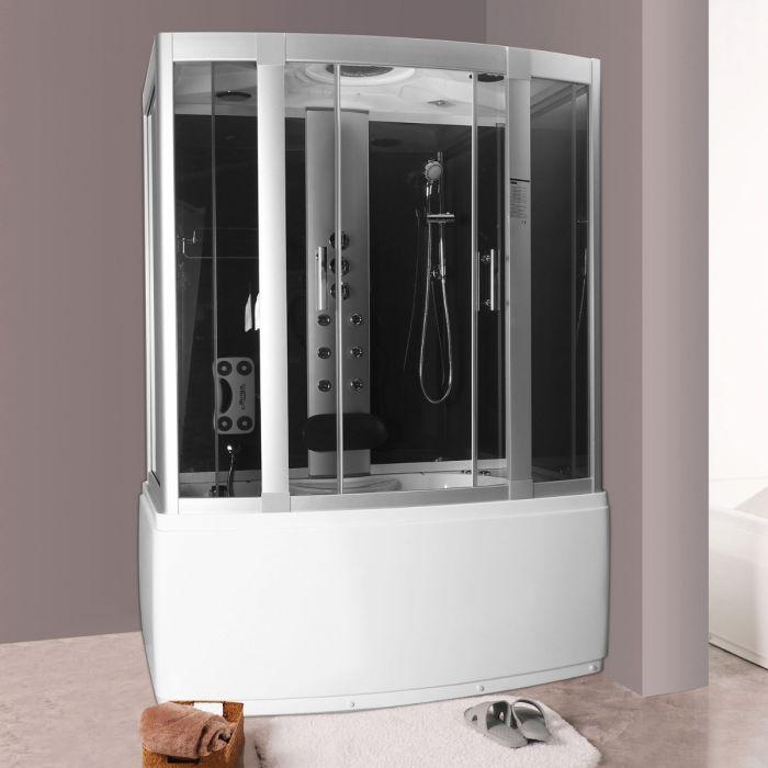 Andrea 1 massasjedusj/badekar 150x90 grå uten strøm
