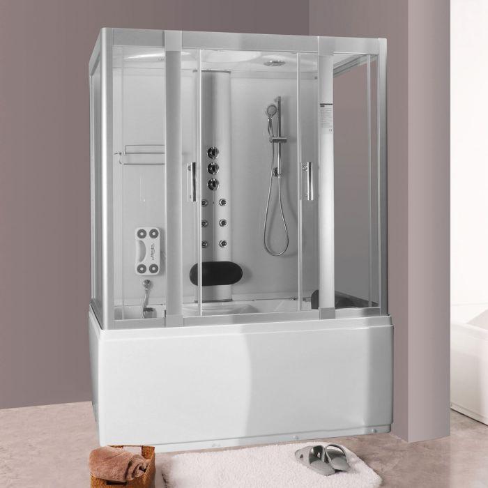 Andrea 2 massasjedusj/badekar 160x85 hvit uten strøm