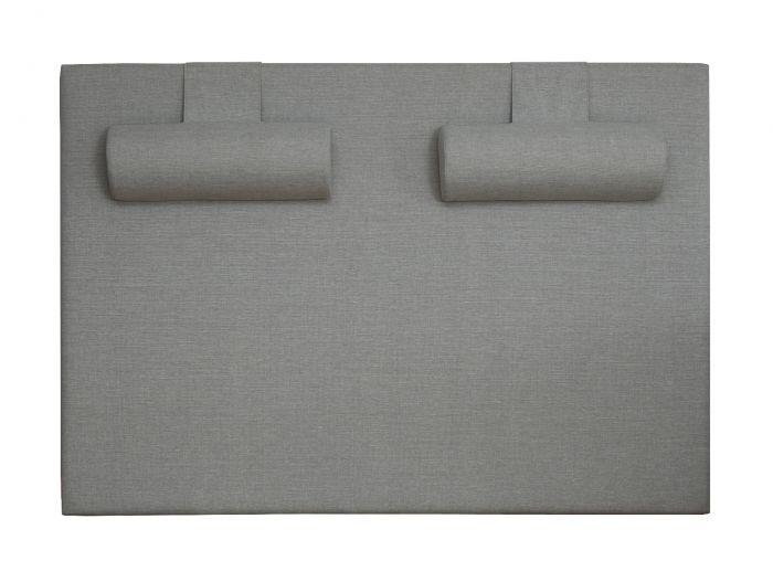 Nakkeputer til Møre sengegavl, sett 2 stk - Savana lys grå