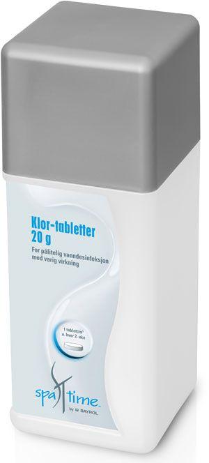 Spatime Klor tabletter 20 gr. lengre virk.