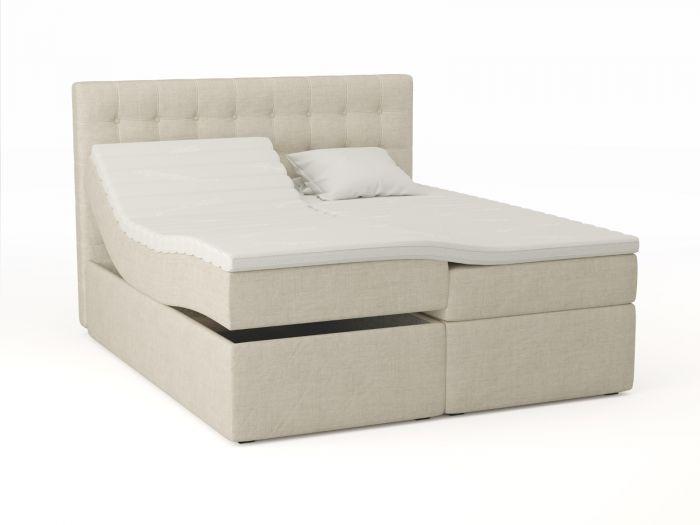 Premium regulerbar seng 180x200 - sand