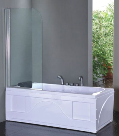 Dusjvegg for badekar 80 cm 601-PF2