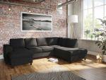 Holmsbu D3A U-sofa med sjeselong - antrasitt