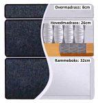 Comfort seng med oppbevaring 90x200 - lys grå