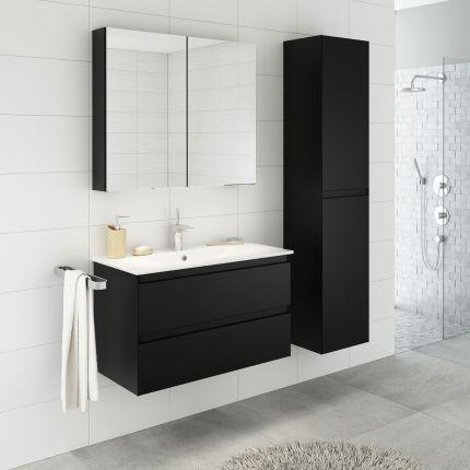 StellaDesign 80 cm baderomsmøbel sort matt
