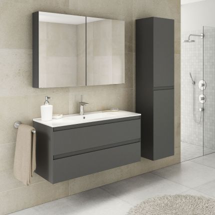 StellaDesign 100 cm baderomsmøbel grå matt