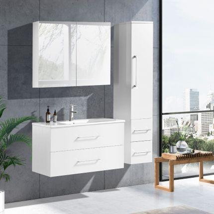 LinneaDesign 100 cm baderomsmøbel hvit matt