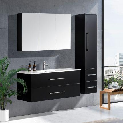 LinneaDesign 120 cm baderomsmøbel single sort matt