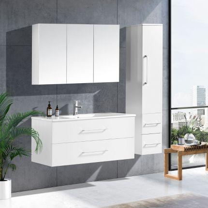 LinneaDesign 120 cm baderomsmøbel single hvit matt