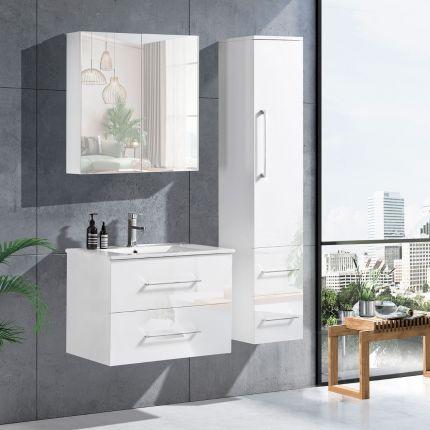 LinneaDesign 60 cm baderomsmøbel hvit høyglans