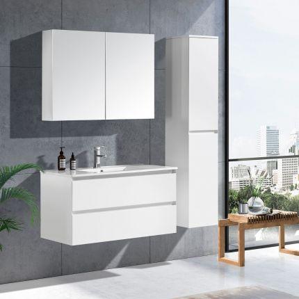 StellaDesign 100 cm baderomsmøbel hvit matt