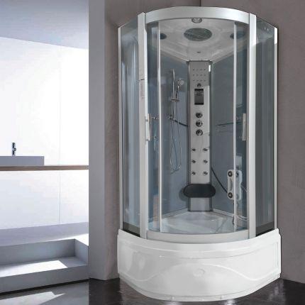 Hanna massasjedusj/badekar grå 100x100