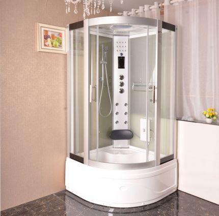 Hanna massasjedusj/badekar hvit 100x100