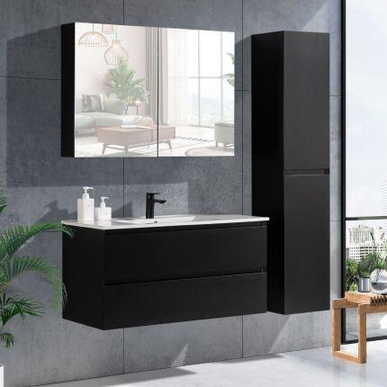 StellaDesign 100 cm baderomsmøbel sort matt