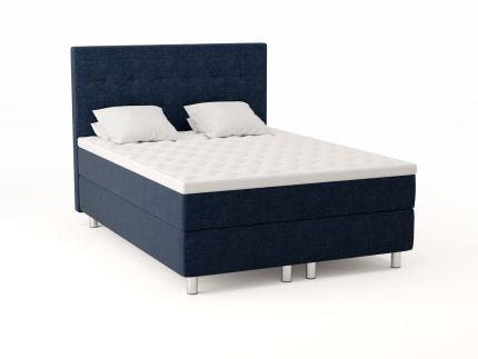 Premium kontinentalseng 150x200 - mørk blå