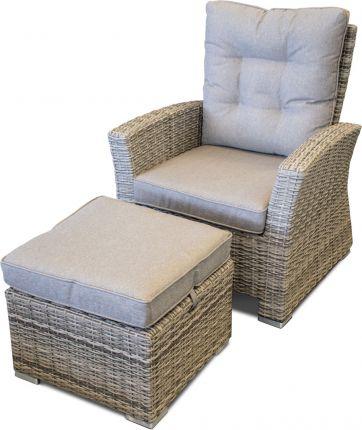Honululu/San Juan reclinerstol i gråmix inkl. puff