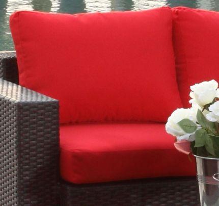 Røde putetrekk - Sett for komplett Beach daybed